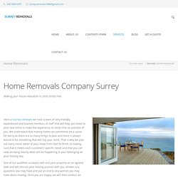 House Removals Services by Professionals - Surrey Removals