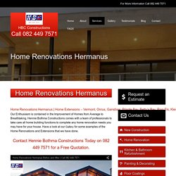 Home Renovations Hermanus