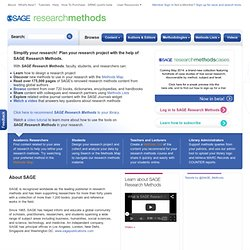Home : SAGE Research Methods Online