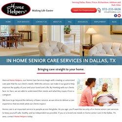 In Home Senior Care in Dallas, TX