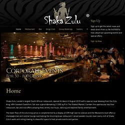 Shaka Zulu - Best Restaurant Camden, London bar