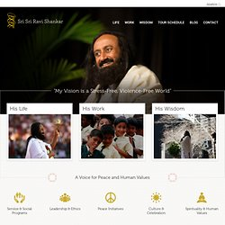 Home | Sri Sri Ravi Shankar - Official Website
