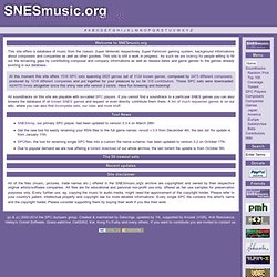 Home of SNES Music ~ SNESmusic.org