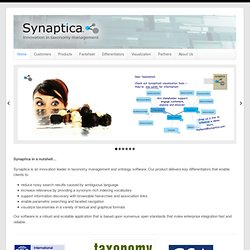 Taxonomy software from innovation leader Synaptica