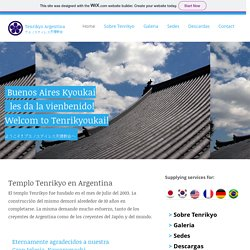 Tenrikyo religion website, and a picture of a temple built in Argentina