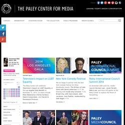Home | The Paley Center for Media