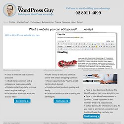 The WordPress Guy — builds your WordPress advantage