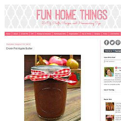 Fun Home Things: Crock Pot Apple Butter