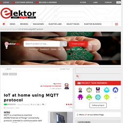IoT at home using MQTT protocol - Projets LABS