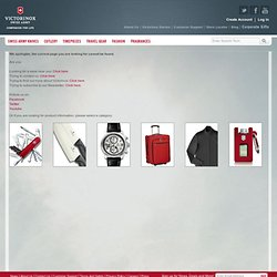Victorinox Swiss Army - User Manuals