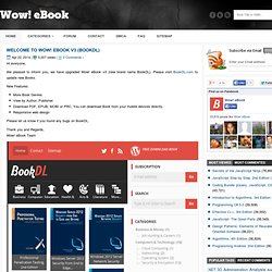 Wow! eBook - Great eBook, Great site!