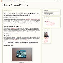 HomeAlarmPlus Pi