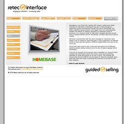 Homebase In Store Shopping Experience