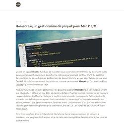 Homebrew, un gestionnaire de paquet pour Mac OS/X