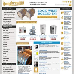 Home Brewing & Beer Brewing Supplies - HomeBrewing.com