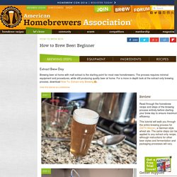 Homebrewers Association | Homebrewing 101