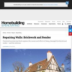 Repairing Walls: Brickwork and Render