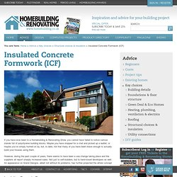 Insulated Concrete Formwork (ICF)