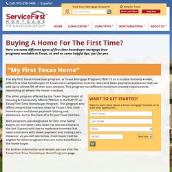 First Time Homebuyer Mortgages TX