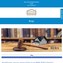 Homebuyers, are you aware of the no-go RERA 20:80 schem by SRNN