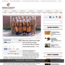 Manning: Watertown High School Homecoming Coronation Must Change