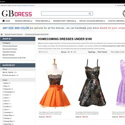 Cheap Short Homecoming Dresses Under $100 - GBdress.Com