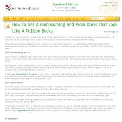 How to get a Homecoming and Prom Dress that Look like a million bucks