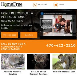 HomeFree Wildlife & Pest Solutions, Wildlife removal cost Canton GA