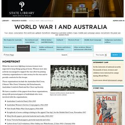 Homefront - World War I and Australia - Research guides at State Library of New South Wales