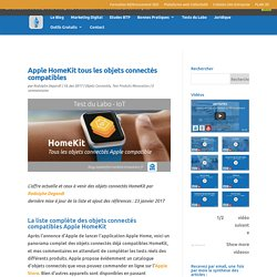 Apple HomeKit : la liste de tous les objets connectés compatibles