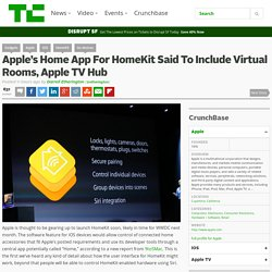Apple's Home App For HomeKit Said To Include Virtual Rooms, Apple TV Hub