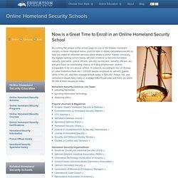 Top Online Homeland Security Schools: Accredited Homeland Security School Degrees & Degree Programs