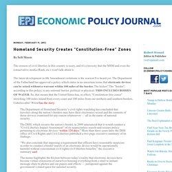 """Homeland Security Creates """"Constitution-Free"""" Zones"""