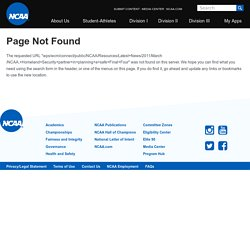 Latest News - NCAA.org