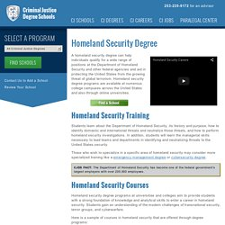 Homeland Security Degree Programs of 2016