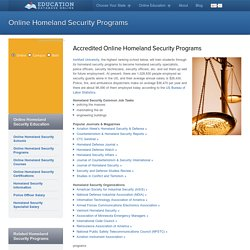 Top Homeland Security Programs Online : Find a Homeland Security Program