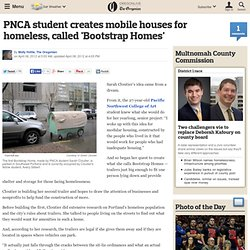 PNCA student creates mobile houses for homeless, called 'Bootstrap Homes'