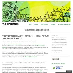 The Whatcom Museum Serves Homeless Adults and Families: Year 2