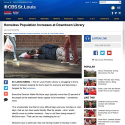 Homeless Population Increases at Downtown Library