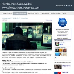 Homelessness ESL,EFL,ELT Lesson Plan - AlienTeachers has moved to www.alienteachers.wordpress.com