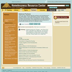 Homelessness Resource Center - National Partners