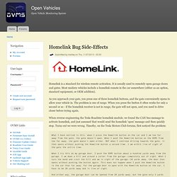 Homelink Bug Side-Effects