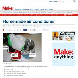MAKE: Blog: Homemade air conditioner