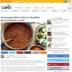 Homemade Alternative To TastyBite Brand Madras Lentils