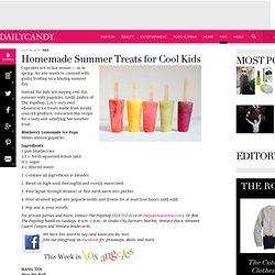 The Popshop's Blueberry Lemonade Ice Pop Recipe