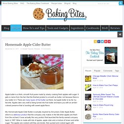 Homemade Apple Cider Butter
