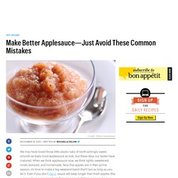 Homemade Apple Sauce Common Mistakes