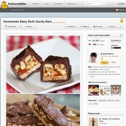 Homemade Baby Ruth Candy Bars - Español