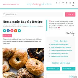 Homemade Bagels Recipe