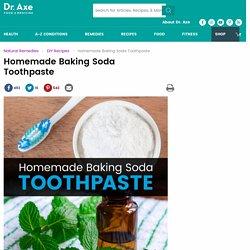 Homemade Baking Soda Toothpaste